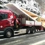 Transport av takstol og precut