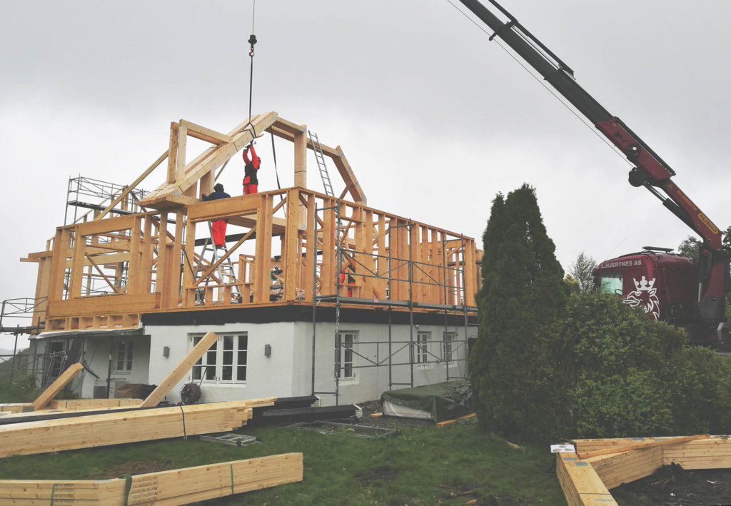 Montering på byggeplassen