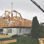 Montering av Precut på byggeplassen